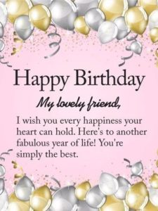 Lovely Friend Birthday Quotes