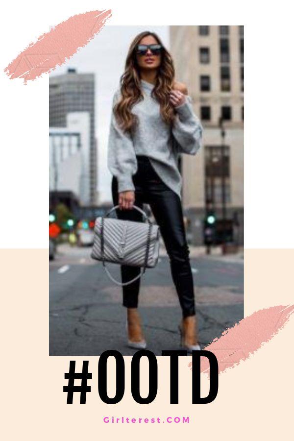 Charcoal Grey Sweater Dress