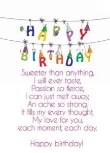 Passionate Girlfriend Birthday Quotes