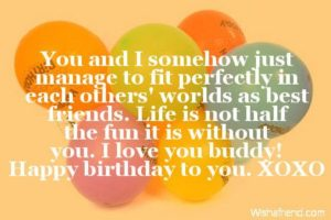 Perfect Friends Birthday Quote