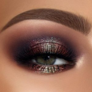 Sultry Smokey Eye with Bronze Glitter