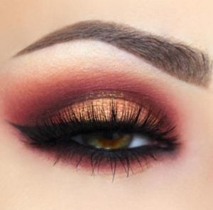 Fiery and Warm Smokey Eye