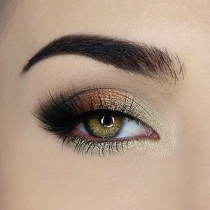 Gold and Bronze Smokey Eye