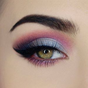 Icy Grey and Mauve Smokey Eye
