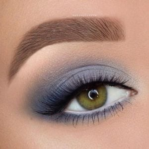 Icy Blue Smokey Eye