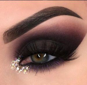 Dramatic Matte Black Eye with Glitter