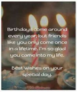 Special BFF Birthday Quotes