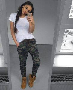 joggers with timberlands