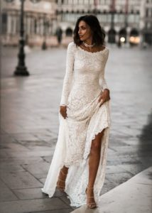 simple lace long sleeve