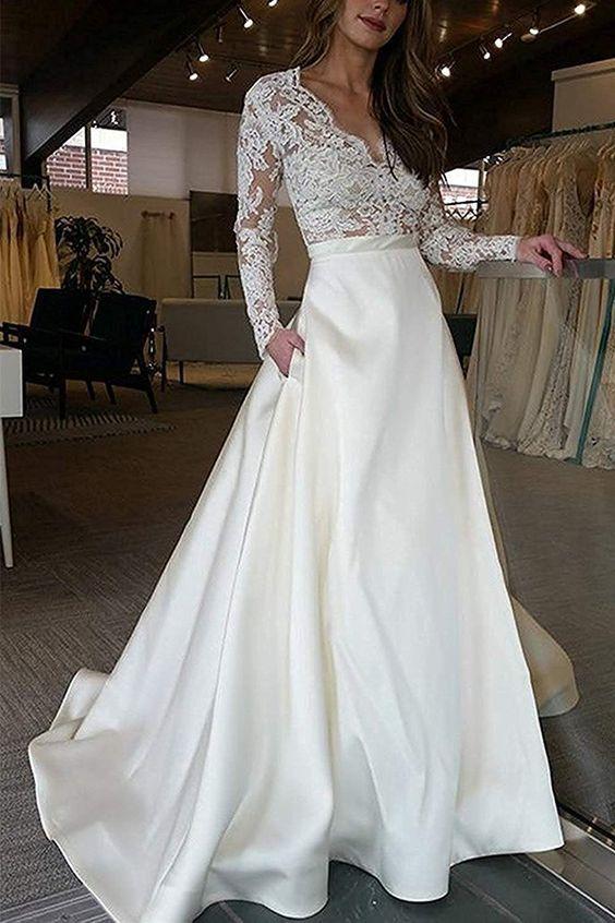 classic wedding sleeves