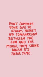 never compare yourself quote