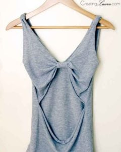 open-back tank top No Sew
