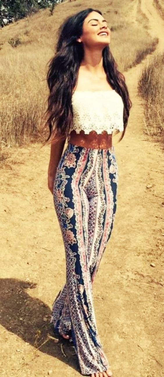 crop lace top pants