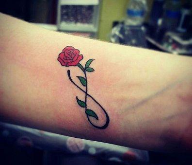 flower rose infinity
