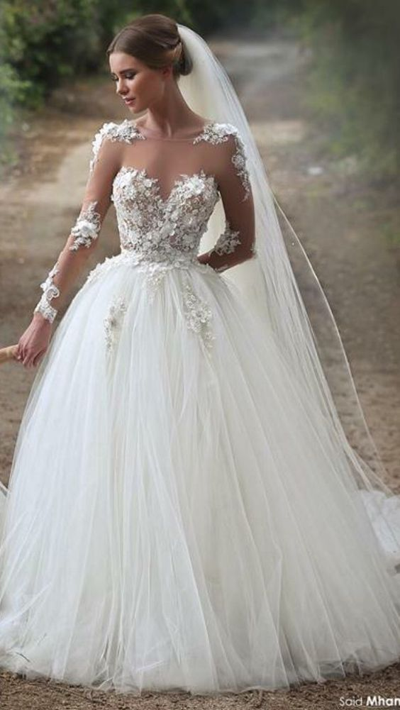 sheer princess gown