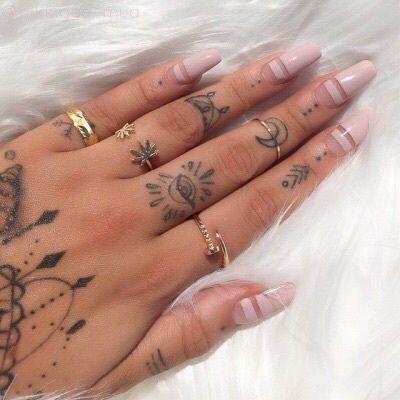 Dot Work Mandala Hand Tattoo