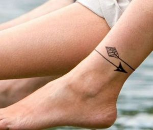 Arrow-Ankle-Tattoos-For-Girls