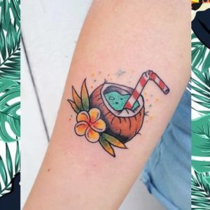 Beach Drink Tattoos