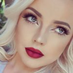 Bridal Make up – Dark Red Lip and Natrual Eye
