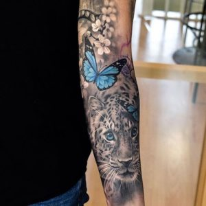 Butterfly-Sleeve-Tattoos