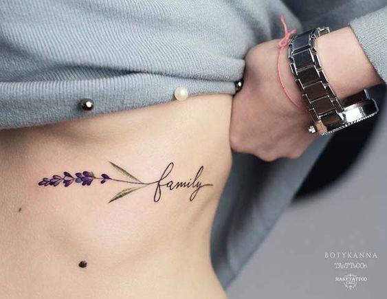 Cute rib tattoos for girls