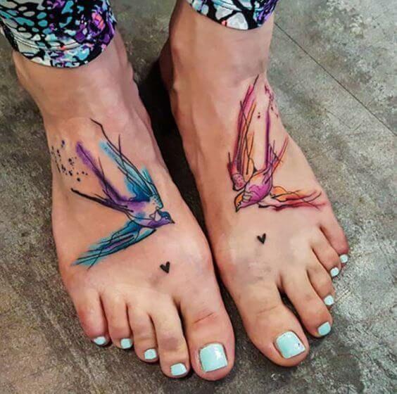 Bird Hand Tattoos
