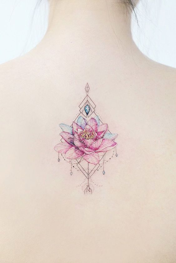 Colorful-Lotus-Flower-Tattoos