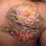 Fish-Lotus-Tattoos-For-Girls