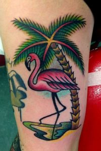 Flamingo Beach Tattoos