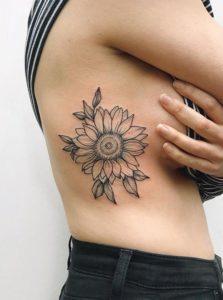 Flower-Rib-Tattoos