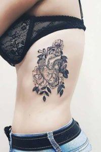 Heart-Rib-Tattoos