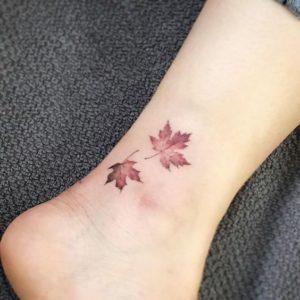 Leaf-Ankle-Tattoos