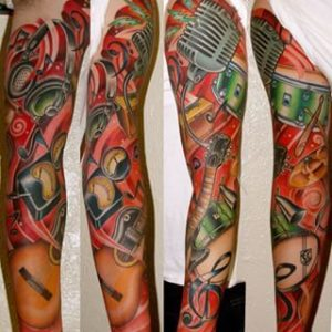 Musical-Sleeve-Tattoos