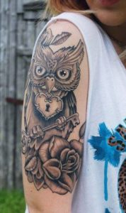 Owl-Sleeve-Tattoos-For-Women