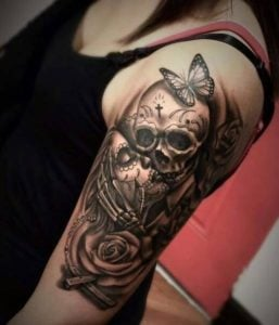 Skull-Tattoos-For-Women
