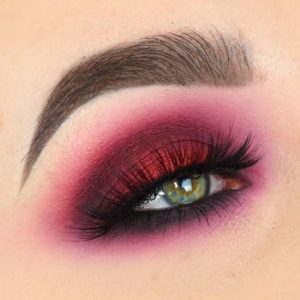 Red and Berry Smokey Eye