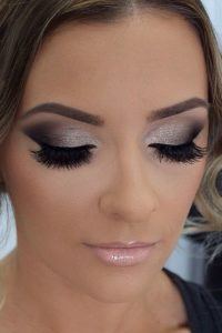 Silver and Black Smokey Eye