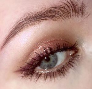 Winged Edge Glitter Makeup