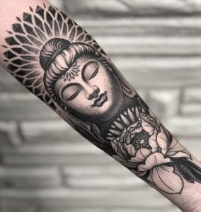 Zen-Sleeve-Tattoos-For-Women