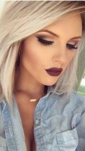 deep red wine lips deep makeup