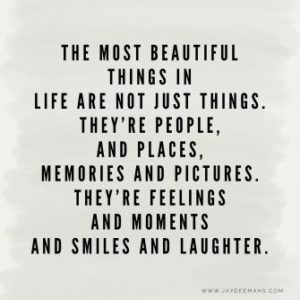 Beautiful things Smile quote