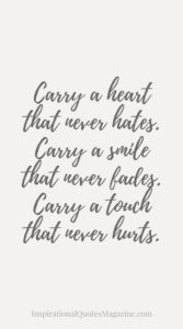 Carry a smile quote