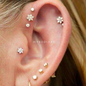 Flower-ear-piercing-ideas