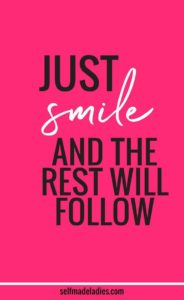 Just smile quote
