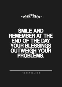 Smile blessings quote