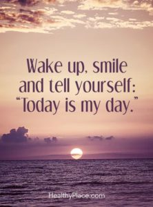 Wake up smile quote