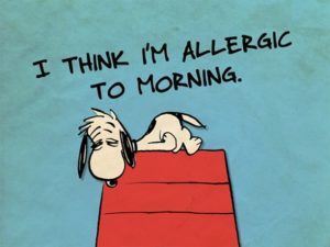snoopy morning quote