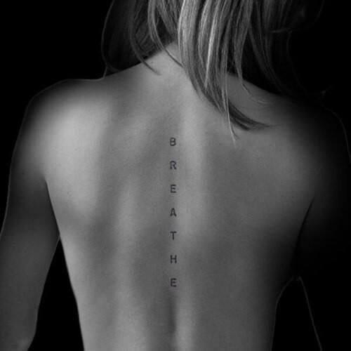 Spine Tattoos for Females