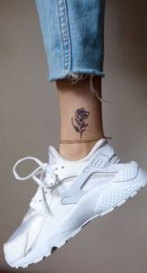 floral tattoo on ankle
