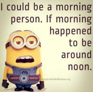 morning text